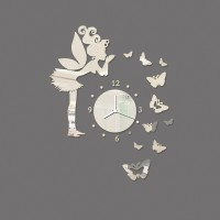3d Acrylic Home Decoration Silver Mirror Living Room Wall Clock