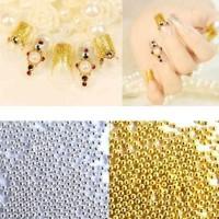 Beading caviar gold silver manik kuku kecil pasir butir nail art