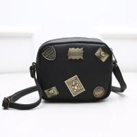 Jual Tas Sling Bag Mini Cewek Import Korea Black EL061021 Murah