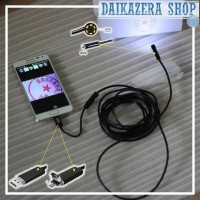 Kamera Endoscope Android 7mm Waterproof for Smartphone and PC Laptop