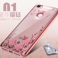 TPU FLOWER Xiaomi Mi Max 2 soft case casing cover silikon ultrathin hp