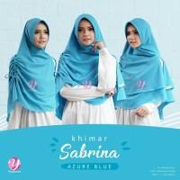 Khimar Serut Sabrina AZURE BLUE - M by Yasmeera diamond crepe 2 layers