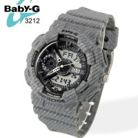 JAM TANGAN BABY-G CASIO PROTECTION DOUBLE TIME KODE 3212 SIZE(4cm)