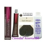 Loreal Diarechese 3 Dark brown / pewarna rambut/ Toning rambut