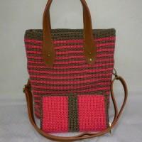 Tas rajut handmade totebag sling bag + dompet rajut