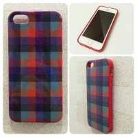 SALE Iphone 5 / 5S Burberry Red Kotak Softcase Casing Branded Case