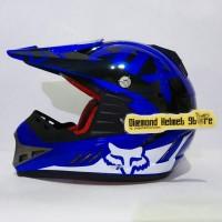 Helm cross anak MV Star Fox Royal Blue white Black