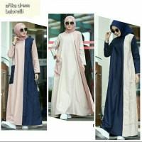 Dress muslimah cantik casual afika - Gamis hijabers terbaru
