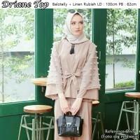 Driane Top Balotelly Mix Rubiah / Blouse / Kemeja Casual / Hijab Ootd