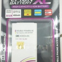 Baterai Log On Samsung Galaxy S5 I9600 Replika Super Copy Slim 4000MAh