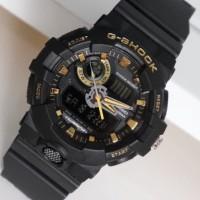 Jam Tangan Pria / Cowok Casio G-Shock GS3407 Rubber Black Gold