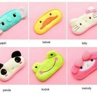 Masker penutup mata dengan gel hello kity, bebek, gajah,panda,keropi