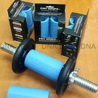 Fat Gripz - Fitness/Barbell/Dumbell Rubber Grip - For Bigger Arms -