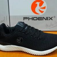 Sepatu Sneakers Phoenix Mamba Black White Original - Sport / Casual -