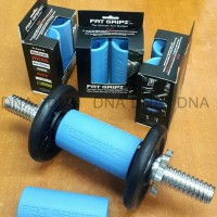 Fat Gripz - Fitness/Barbell/Dumbell Rubber Grip - For Bigger Arms! -