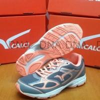 Sepatu Running Calci Dallas Woman Grey / S. Orange - Original - Murah