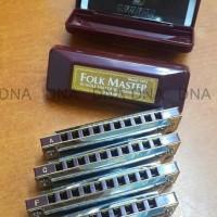 Harmonika Suzuki Folkmaster 10 Holes Key C/G/A - Diskon