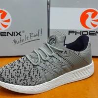 Sepatu Sneakers Phoenix Leon D.Grey White Original - Sport / Casual -