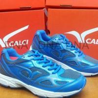 Sepatu Running Calci Dallas Grey / Saphire Blue - Original - Kualitas