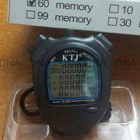Stopwatch Ktj 60 Memory Sport Watch - High Quality - Murah