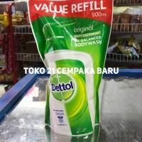 Sabun Cair Dettol 900 ml | Original Body Wash Refill 900ml Mandi Murah