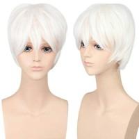 Wig Base White Cowok Kaneki Gintoki FreeBrand wig cowok Import Taobao