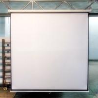 "Screen projector wall mount 84"" - Layar proyektor manual 84 Maxtor"
