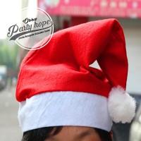 Jual Topi Natal murah / Topi Santa Polos ALL SIZE / merry christmas / bando Murah