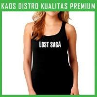 Kaos Lost Saga Logo 2 Tanktop Wanita Cewek TKT-TAE80
