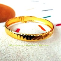 Gelang Bangle Simple Elegant import perak lapis emas murni
