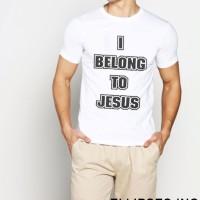 Tumblr Tee / T-Shirt / Kaos Pria Lengan Pendek I Belong To Jesus