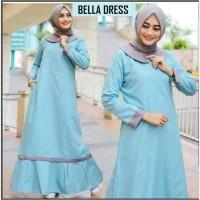 Basic Maxi Long Dress Wanita Baju Muslim Gamis Gaun Pesta Kebaya Murah