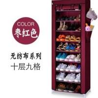 Rak Sepatu 10 tingkat 9 susun ( lemari rack shoes sandal rangka besi )