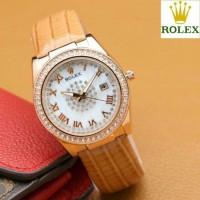(Sale) Jam Tangan Wanita Rolex MJ1463 - Soft Brown