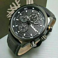 Jam Tangan Pria Timberland Crono Leather Black Kw Super