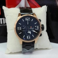 Jam Tangan Expedition E 6386 Black Rosegold Jam Original Chrono Murah