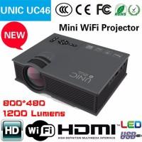 Unic UC46 Wifi Mini LED Projector Portable 1200 Lumens