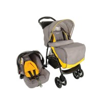 Stroller Graco Mirage Plus Travel System Yellow Grey