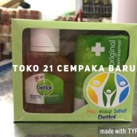 Dettol Liquid Antiseptik Cair 50 ml + Sabun Batang Dettol Original 65g