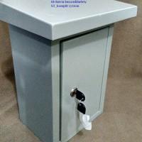 Box panel Outdoor topi bahan plat  30x20x15 Box metal enclos T1310