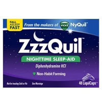 ZzzQuil Nighttime Sleep Aid, 48 LiquiCaps from VICKS Made in USA