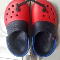 Sendal Crocs boy/girl merah navy C13 original from Sport Station