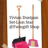 Pengki+ Sapu Tinggi, Vivian Dustpan Set-Lion Star.(KHUSUS GOJEK).