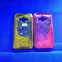 Gliter Samsung J1 Ace J1Ace Softcase Water Glitter Cover Casing Soft