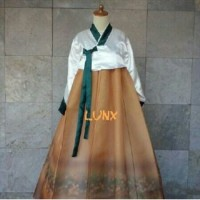 sewa / rental kostum Korea putih krem wanita dewasa(harga sewa+deposit