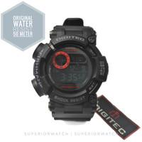 Jam Tangan Renang Digitec DG 2106 Original Black Strip Merah Fishman