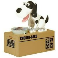 Jual Mainan Celengan Robot Anjing Choken Bako Warna Hitam Putih Murah