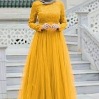 maxi alma deswita kuning fashion wanita gamis maxi dres