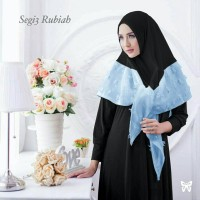 jilbab organza dot rubiah instan