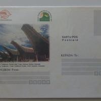 kartu pos rumah adat toraja sulawesi selatan